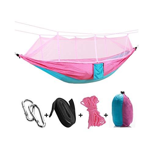 Balancelle de Jardin Pliable Double hamac Camping moustiquaire Portable Arbre Balançoire Tente Voyage lit, Tente Idéal Swing for Camping, randonnée, kayak et Voyage Balançoire (Color : A)