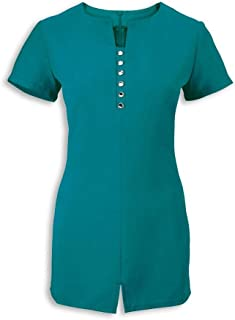 Alexandra Blue Green Salon Uniform