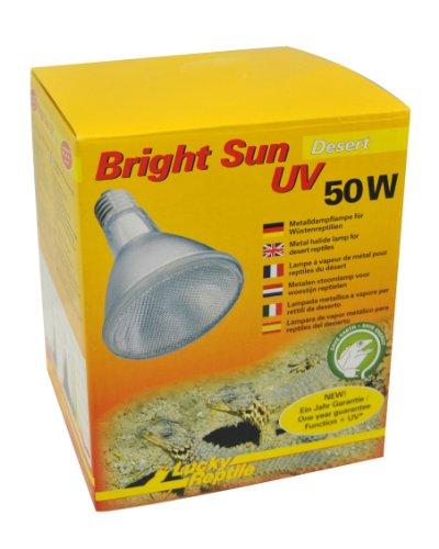Lucky Reptile BSD-50 Bright Sun UV Desert, 50 W, Metalldampflampe für E27 Fassung mit UVA und UVB Strahlung (Vorschaltgerät erforderlich)