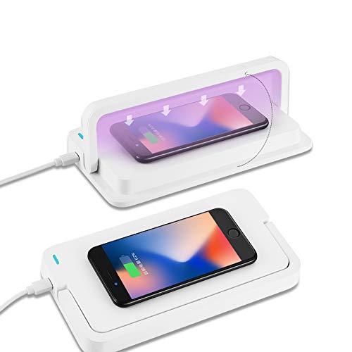 Cargador Inalambrico de 10 W con Esterilizador UV, Cargador de Inducción de Carga rápida de Carga Inalámbrica para Teléfono Inteligente Android, Reloj Inteligente etc