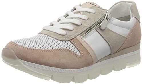 MARCO TOZZI 2-2-23754-26 Damen Leder Sneaker, Zapatillas Mujer, Color Blanco, 40 EU
