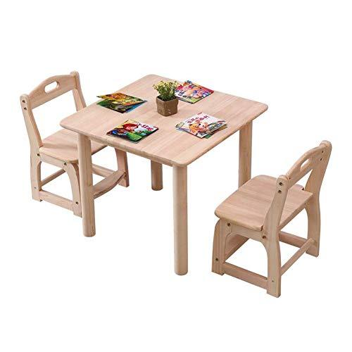 N/Z Tägliche Ausrüstung Tischstühle Hocker Kinderzimmer-Sets Holz Schreibtisch Unisex Aktivität Spielzimmer Kindertagesstätte Vorschule 1 Tisch + 2 Stühle