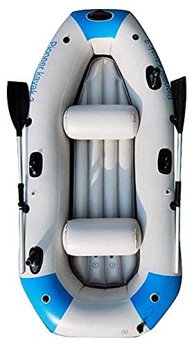 WERTYG Kayak inflable para 3 personas, bote de goma, bote de deriva, canoa con palas, para niños adultos, rafting al aire libre, pesca, kayak de viaje