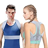 Posture Corrector For Men And Women Upper Back Brace For Clavicle Support Adjustable Back Straightener And Providing Pain Relief From Neck, Back & Shoulder (M: 29 - 33 in)