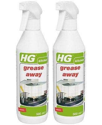 Pack of 2 x HG Grease Away Kitchen Degreaser Spray 500ml