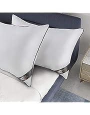 BedStory Almohadas Fibra Almohada de 50 x 75cm con Relleno 3D Fibra Mantiene la Forma Almohadas Antiácaros para de Cama Almohadas para Hoteles【Nueva Versión】 Pack de 2 Gris