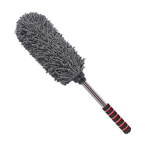 XMCF Auto Microfiber Car Duster Brush Long Handle Dust Wax Washable Drag Cleaning Dirt Dust Clean Brush Universal Car Care Tools Polishing Detailing Towels Cloths