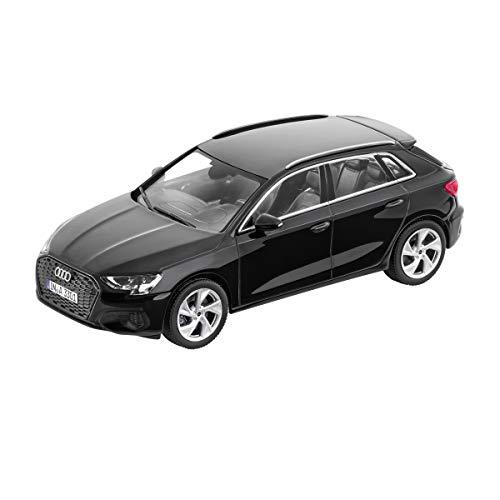 Audi 5011903032 Maqueta de Coche en Miniatura 1:43, Modelo A3, Color Negro