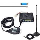 HYS Auto VHF / UHF Ricetrasmettitore mobile Microfono portatile per veicoli Radio bidirezionale Compatibile con base magnetica per montaggio sul tetto e antenna / antenna