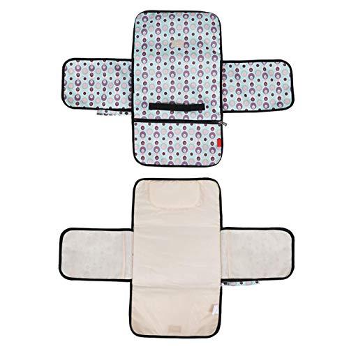 DAUERHAFT Bolsa de colchón de Cuna, Almohadilla de pañal de Tela para bebé Multiusos, para la Comodidad del bebé para el automóvil, la Tienda, la Cama, el Cochecito(Macaron Blue)
