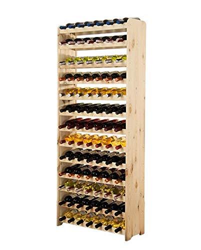 MODO24 Weinregal Flaschenregal Weinschrank für 91 Flaschen RW-3-91