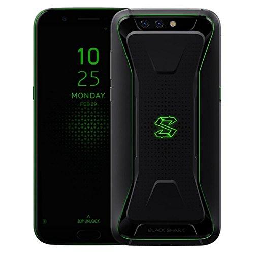 マルチ言語対応Global版・液体冷却ゲーミングスマホ・5.99インチ FHD・後20.0MP +12.0MP + 前20.0MP カメラ搭載★Xiaomi Black Shark SKR-H0 Global★AI対応 Snapdragon 845 Joy UI(Android 8.0)搭載・4G LTE+4G/3G 同時待受けDSDV対応・6GB/8GB RAM + 64GB/128GB ROM (RAM 8GB+ROM 128GB, Black)