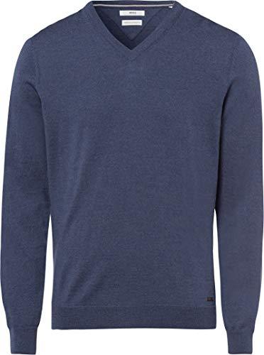 BRAX Herren Style Merino Wool V Kragen Pullover, Blau (DENIM), X-Large (Herstellergröße: 54)