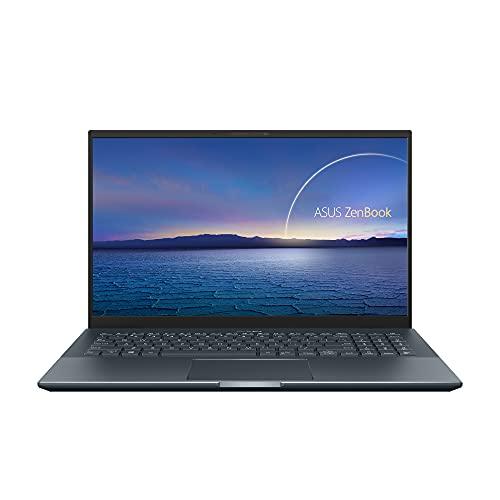 ASUS ZenBook UX535LH-KJ188 - Portátil 15.6' Full HD (Core i7-10870H, 16GB RAM, 1TB HDD, 512GB SSD, GeForce GTX 1650 4GB, Endless OS) Gris Pino - Teclado QWERTY español