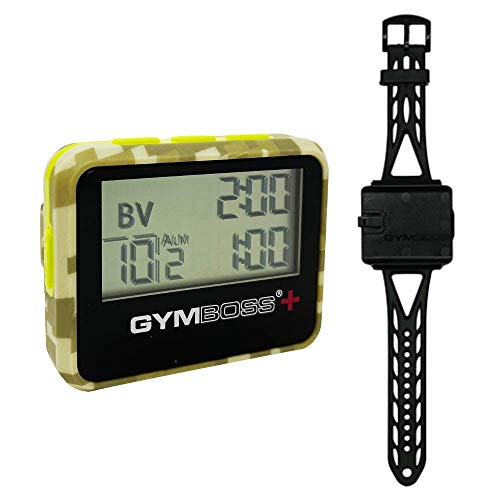 Gymboss Plus Interval Timer and Stopwatch - Bundle (Camo/Yellow)