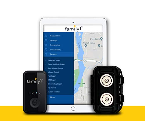 Family1st Mini GPS Tracker Device for Vehicles + Waterproof Magnetic Case - Hidden Underneath car. Tracking Device for Cars, Trucks, Fleet, Automobiles. 4G LTE Real-Time GPS, Monthly fee Required.