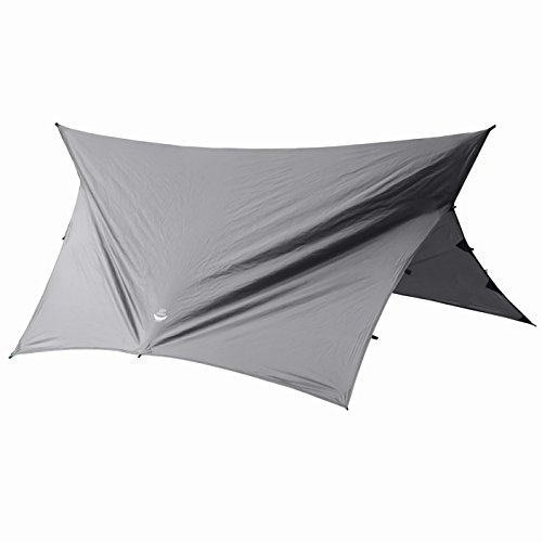 Go Outfitters Apex Camping Shelter/Hammock Tarp, Slate Gray
