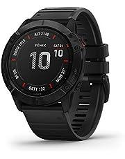 Garmin fēnix 6X PRO - Reloj GPS multideporte con mapas, música, frecuencia cardíaca y sensores, Negro con correa negra