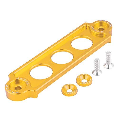 KIMISS Aluminio resistente Kits de Soporte de amarre para batería de automóvil [Bloqueo anodizado](dorado)