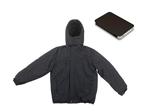 PEARL urban Beheizbare Arbeitsjacke: Beheizbare Outdoor-Jacke mit Powerbank (8.000 mAh), Größe S (Selbstwärmende Jacke)