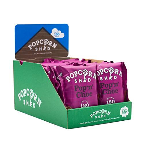 Popcorn Shed Pop N Choc Popcorn Snack Pack, 24g, 16er Pack Schokolade Karamell Popcorn, Glutenfreie, Natürliche & Vegetarische Snacks