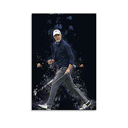 INGF Sports Poster Golf Jordan Spieth Poster Decorative Painting Canvas Wall Art Living Room Posters Bedroom Painting 20x30inch(50x75cm)