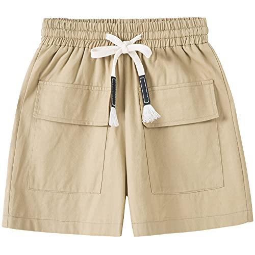 VtuAOL Men's Cargo Shorts Elastic Waist Comfy Cotton Shorts Loose Fit Casual Hiking Shorts CP Camo Asian 3XL/US 34