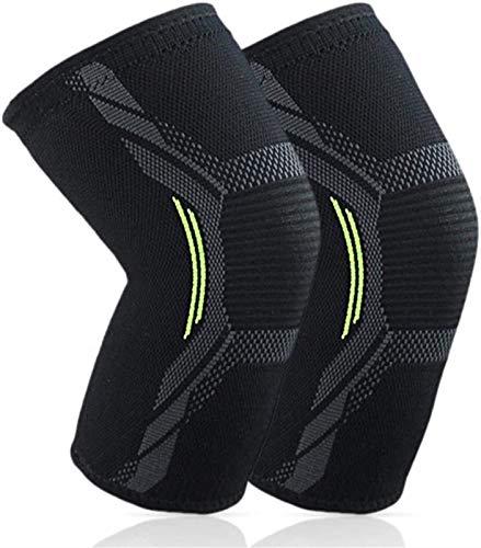 Transpirable Rodillera Deportiva Perspieta de la compresión de la manga de rodilla: soporte elástico y estabilizadores laterales, rodilla de corredor, rodilla de jersey, dolor de artritis, baloncesto,