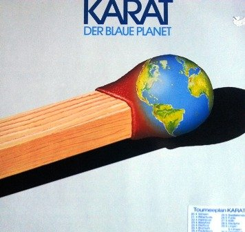 KARAT DER BLAUE PLANET 1982 Klappcover Picture Sleeve POOL # 625070 AP