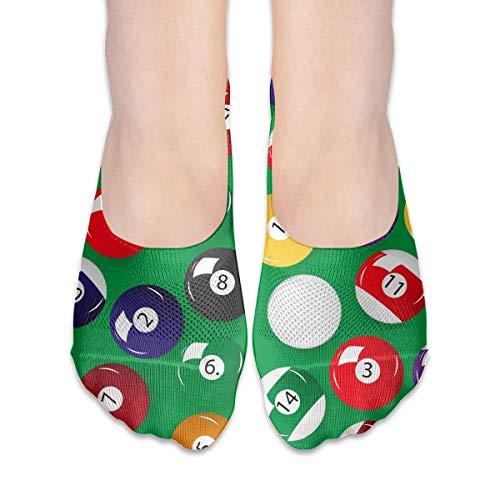 Socken für Frauen, Billardbälle, niedriger Schnitt, unsichtbare Socken