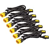 Apc Power Cord Kit (6 Ea), Locking, C13 To C14, 1.8M, North America . 10 A Current Rating . Black 'Product Type: Accessories/Power Cords'