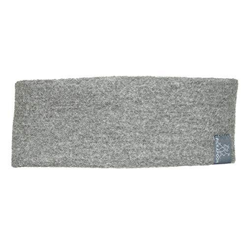 PICKAPOOH Stirnband für Kinder und Damen und Herren aus Reiner gewalkter Bio-Wolle, Grey Gr. 62