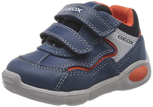 Geox B Pillow Boy A, First Walker Shoe Bambino, (Dk Avio/Orange), 21 EU