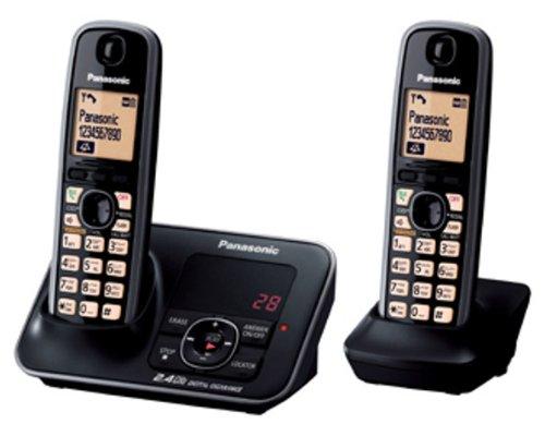 Panasonic 2.4GHz KX-TG3722BX Digital Cordless Telephone (Black)