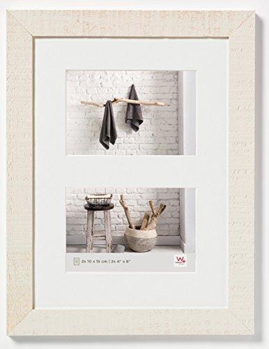 walther design HO215W Home Holzrahmen, 2 (10 x 15 cm), cremeweiß