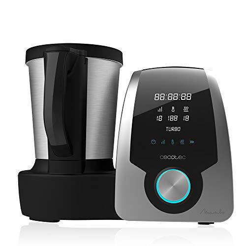 Cecotec Robot de Cocina Multifunción Mambo 6090 Silver. Capacidad de 3,3l, Temperatura hasta 120ºC con Selección Grado a Grado, 10 Velocidades + Turbo, Programable hasta 12h, Incluye Recetario, 1700 W
