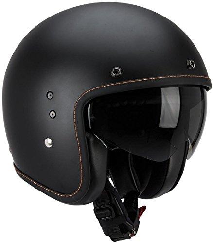 Scorpion BELFAST SOLID Motorrad Jethelm - matt schwarz Größe M, 81-100-10-04