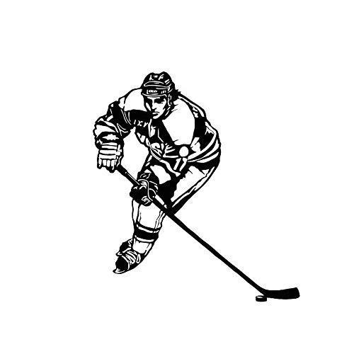 Auto Aufkleber Auto Styling Persönlichkeit Eishockey Mode Sport Vinyl Schwarz 11,5 Cm * 13 Cm, 2St
