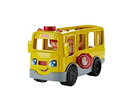 Fisher-Price FKW99 Little People Schulbus interaktives Fahrzeug mit Liedern und Geräuschen inkl. 2 Spielfiguren, ab 12 Monaten deutschsprachig