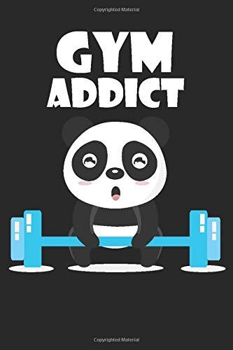 Gym Addict: Best panda Notebook Journal For Kids, man and women