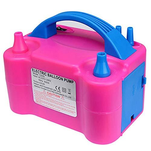 Xu-wang123 Globo for inflar con Aire de la Bomba del Globo del cumpleaños Globo eléctrico 220V AC Agujero Doble Inflable Bomba de Aire Globos Bomba eléctrica (Color : Balloon Pump)