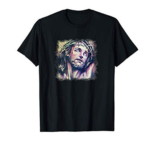 Jesus Crown of Thorns Ecce Homo Passion Christ Catholic T-Shirt