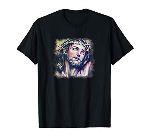 Jesús Corona de Espinas Ecce Homo Pasión Cristo Católico Camiseta