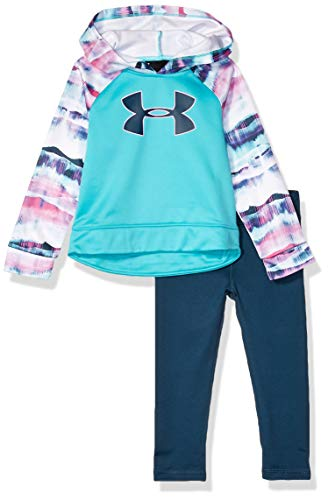 Under Armour Girls' Little Active Hoodie and Legging Set, Breathtaking Bl, 6
