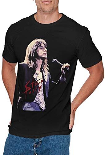 Mens Fashion Steve Perry T-Shirt Black