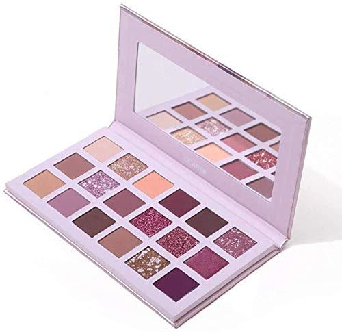ZHANG 1 Paquete de 18 Colores Paleta de Sombras de Ojos Multirreflectantes Brillos Mate Prensado en Polvo Corrector Base Sombras Impermeable