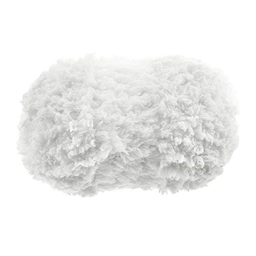 Ymysfit Baby Baumwolle Wolle weich Garn 50g Strickgarn Plüsch-Wolle Softstrickgarn Kuschelwolle Handstrickgarn, Häkelgarn, Babygarn (One Size, Weiß)