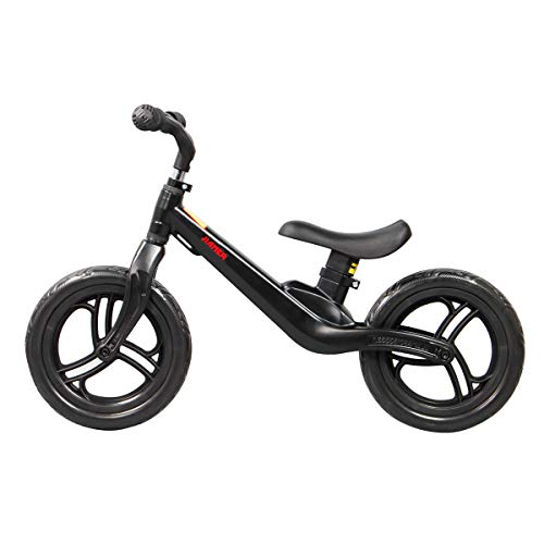 Carbon Steel Frame Training Bike for 2-6 Years Old Girls and Boys Balance Bike with Pedals and Adjustable Seat Easy to Assemble and Carry Kids Bike with Training Wheels