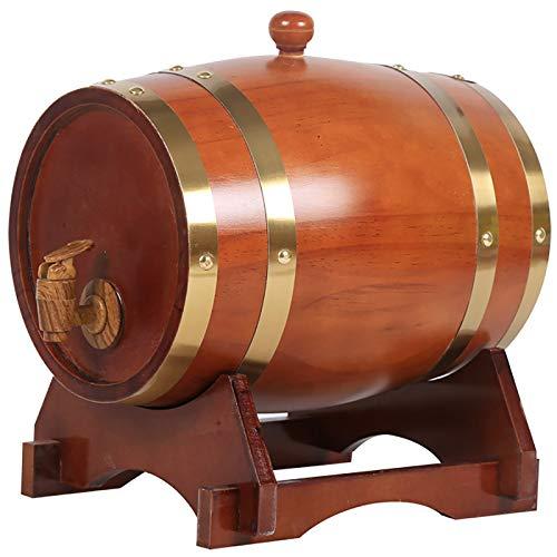 AAADRESSES Dispensador Barril Whisky 1.5L / 3L / 5L / 10L, Barril de Envejecimiento Roble Barril Vino Madera de Whisky Doméstico, Accesorios Bar, Puede Mejorar Las Características del Sabor Vino,A,5L