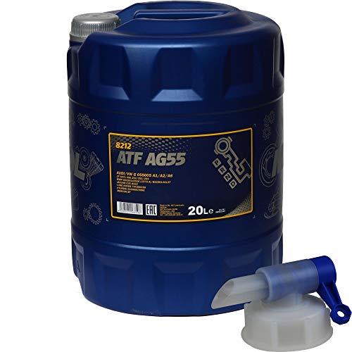 20 L MANNOL Hydrauliköl ATF AG55 Hydraulic Fluid Automatik Gear + Auslaufhahn